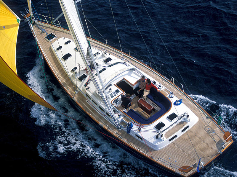 Beneteau 57 sailboat on skippered yacht charter holidays in Greece sailing around the Greek islands