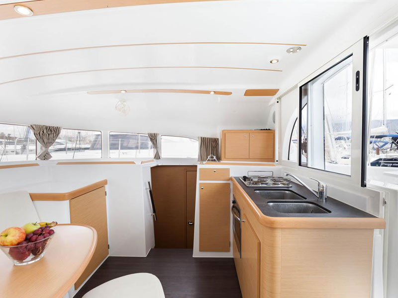 Lagoon 380-galley side view